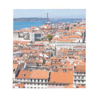 Vue aérienne de Lisbonne, Portugal Bloc-note