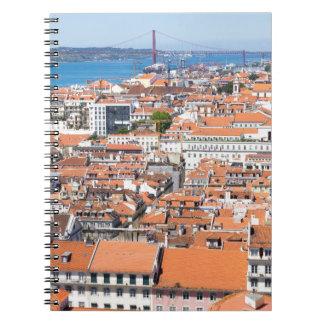 Vue aérienne de Lisbonne, Portugal Carnets