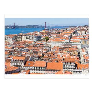 Vue aérienne de Lisbonne, Portugal Carte Postale