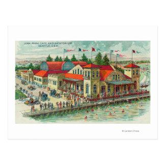 Vue aérienne de Luna Park Caf� et Natatorium Carte Postale