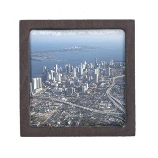 Vue aérienne de Miami Boîtes À Bijoux De Première Qualité