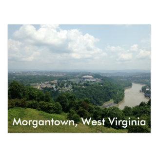 Vue aérienne de Morgantown WV, cartes postales de