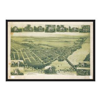 Vue aérienne de Morrisville, Pennsylvanie (1893) Toile