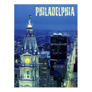 Vue aérienne de Philadelphie avec la ville hôtel Cartes Postales