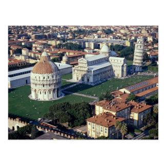 Vue aérienne de Pise, Italie Carte Postale