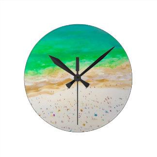 Vue aérienne de plage de Bondi Horloge Ronde