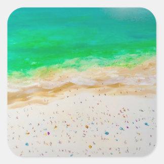 Vue aérienne de plage de Bondi Sticker Carré