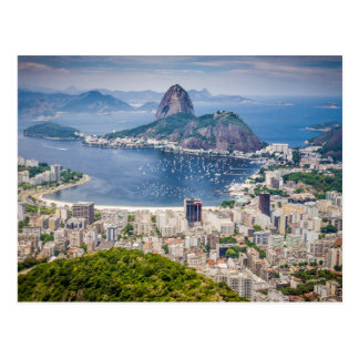 Vue aérienne de Rio de Janeiro Carte Postale