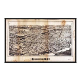 Vue aérienne de Schenectady, New York (1882) Toile