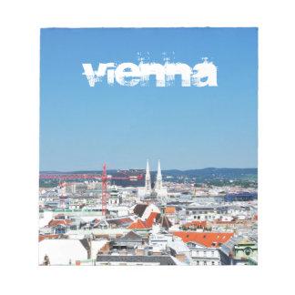 Vue aérienne de Vienne, Autriche Bloc-note
