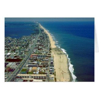 Vue aérienne de ville le Maryland d'océan Carte De Vœux
