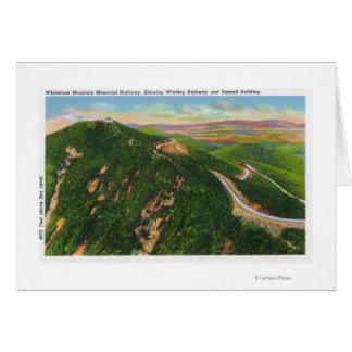 Vue aérienne d'enrouler Hwy et bâtiment de sommet Carte De Vœux