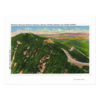 Vue aérienne d'enrouler Hwy et bâtiment de sommet Carte Postale