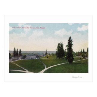 Vue aérienne des casernes de Vancouver Cartes Postales