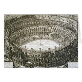 Vue aérienne du Colosseum à Rome des 'vues o Carte De Vœux
