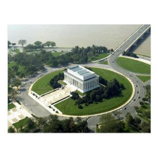 Vue aérienne du Lincoln Memorial Carte Postale