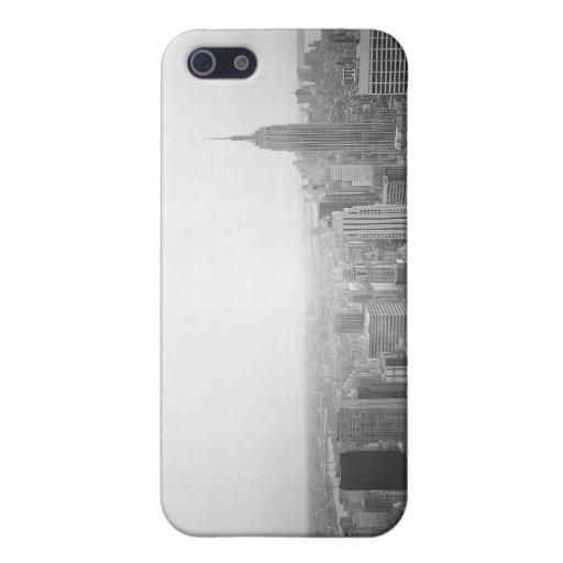 Vue aérienne noire et blanche de NYC iPhone 5 Case