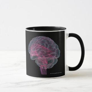 Vue arrière de l'esprit humain mug