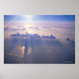 Vue au-dessus de nuage dense posters
