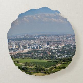 Vue au-dessus de Vienne de Kahlenberg Coussins Ronds