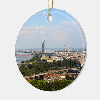 Vue au-dessus de Vienne Ornement Rond En Céramique