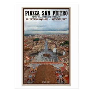 Vue carrée de Ville du Vatican - St Peters Carte Postale