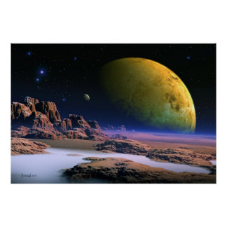 Vue cosmique - art de l'espace poster