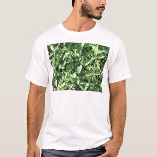 Vue courbe de plante sage dans le jardin t-shirt