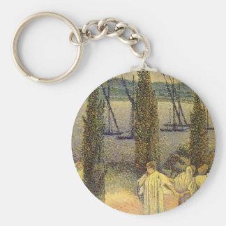 Vue Croix-Côtière de Henri-Edmond avec des arbres  Porte-clefs