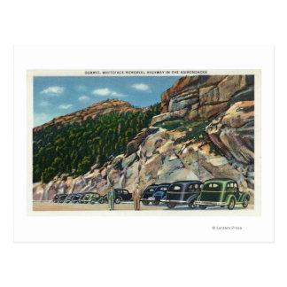 Vue d'aire de stationnement du sommet carte postale