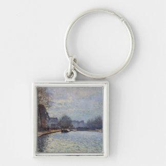 Vue d'Alfred Sisley   du canal St Martin, Paris Porte-clés