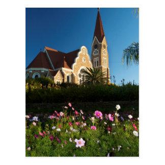 Vue d'angle faible de l'église du Christ Cartes Postales