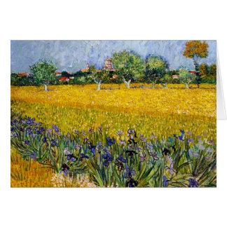Vue d'Arles avec la peinture de Vincent van Gogh Cartes De Vœux