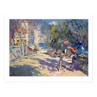 Vue de au sud de carte postale de la France