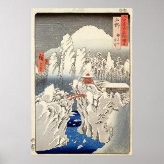 Vue de bâti Haruna dans la neige Posters
