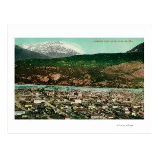Vue de Birdseye de Skagway, AlaskaSkagway, AK Cartes Postales