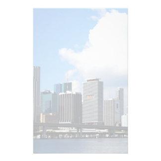 Vue de bord de mer de Miami Papier À Lettre