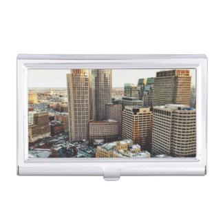Vue de Boston Étui Pour Cartes De Visite