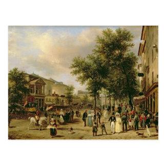 Vue de boulevard Montmartre, Paris, 1830 Cartes Postales