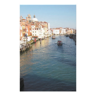 Vue de canal grand célèbre à Venise, Italie Papier À Lettre Personnalisé