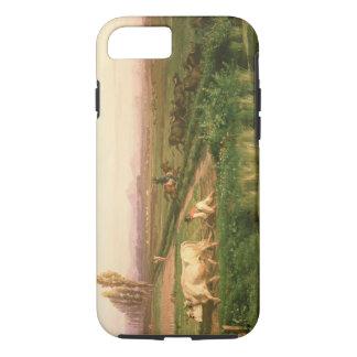 Vue de Carditello (huile sur la toile) Coque iPhone 7