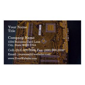 Vue de carte mère d'ATX de côté de soudure Modèles De Cartes De Visite