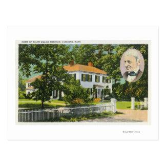 Vue de Chambre de Ralph Waldo Emerson Carte Postale