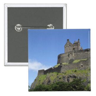Vue de château d'Edimbourg, Edimbourg, Ecosse, 2 Badge Carré 5 Cm
