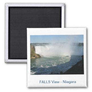 Vue de chutes : Niagara Etats-Unis Canada Aimant