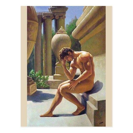 Vue de côté masculine cartes postales