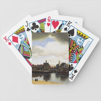 Vue de Delft par Johannes Vermeer Jeu De Cartes Poker