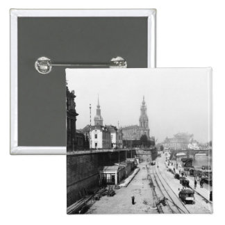Vue de Dresde du Bruehlsche Terrasse Badges