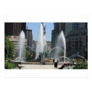 Vue de fontaine de Philadelphie Carte Postale