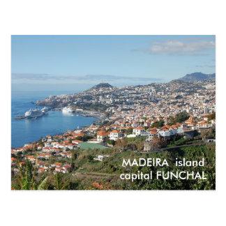 Vue de Funchal, île de la Madère Carte Postale